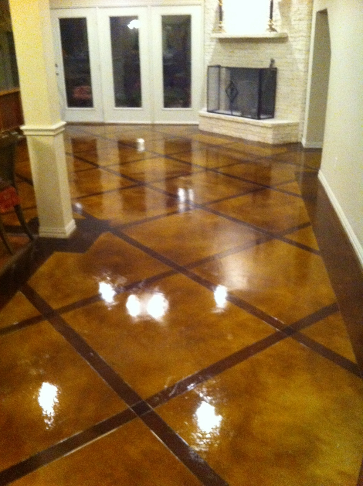 Custom Stained Concrete Floors : Decorative concrete overlay in flower mound tx holland