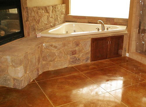 About us holland custom floors for Stained concrete inside house